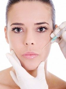 Woman Getting Cosmetic Injection